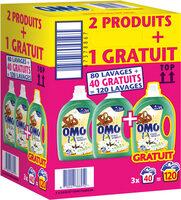 Omo Lessive Liquide Jasmin & Fleur de Coton x120 lavages - LOT 2+1 - Product - fr