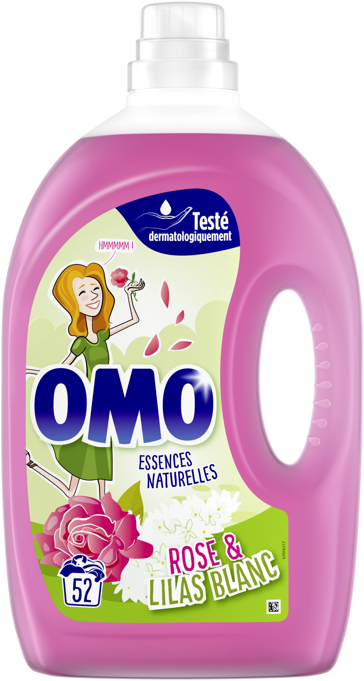 Omo Lessive Liquide Rose & Lilas Blanc 52 Lavages - 2,6l - Product - fr