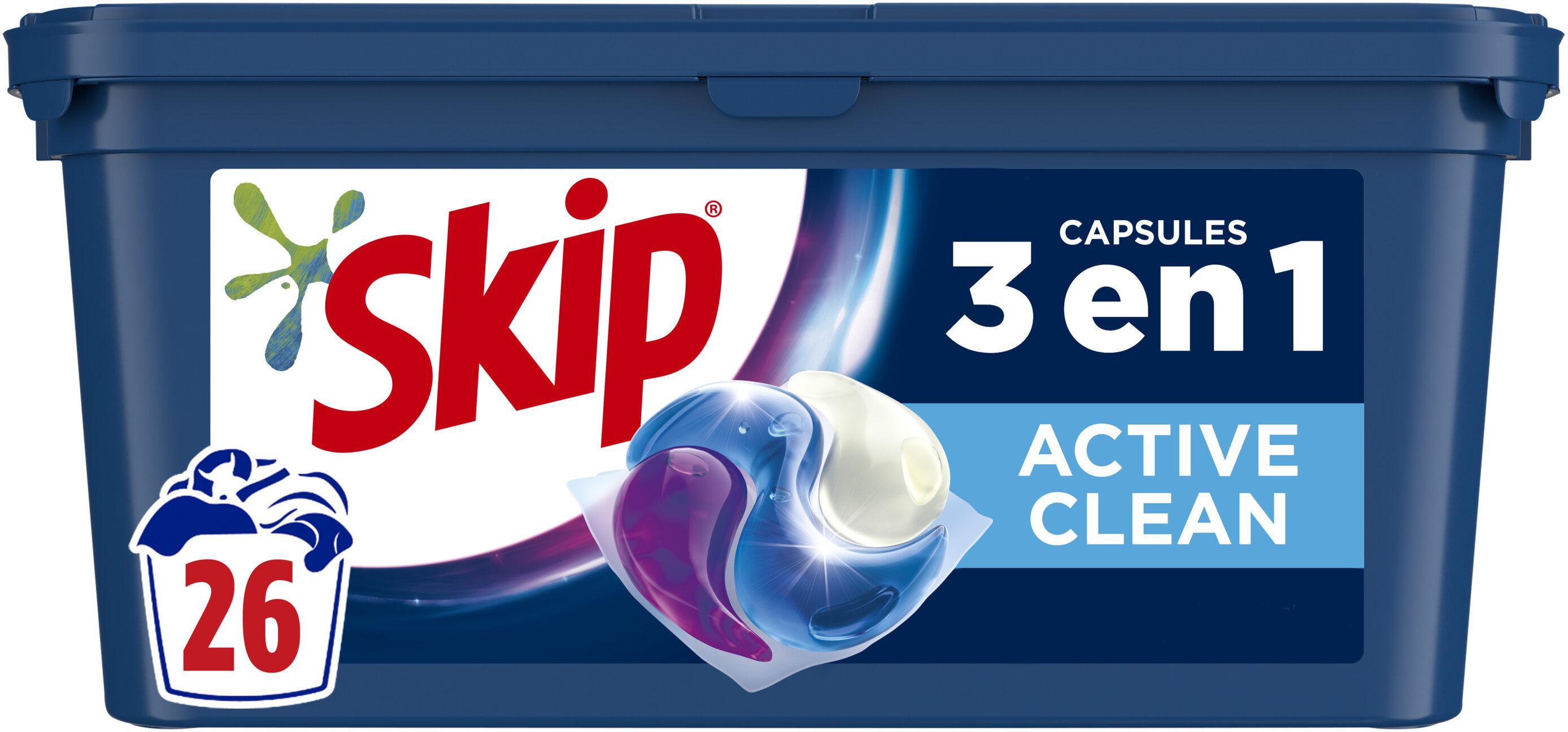 Skip 3en1 Lessive Capsules Active Clean 26 Capsules - Product - fr