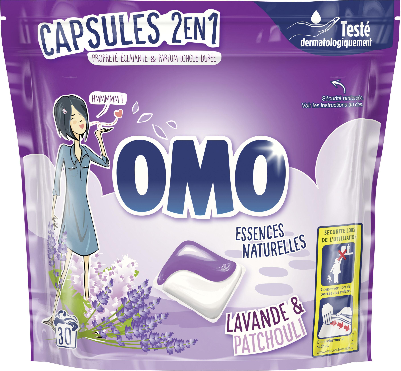Omo Lessive Capsules 2en1 Lavande & Patchouli 30 Dosettes - Product - fr