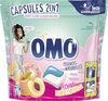 Omo Lessive Capsules 2en1 Pêche & Pamplemousse 30 Dosettes - Produit