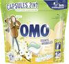 Omo Lessive Capsules 2en1 Jasmin & Fleur de Coton 30 Dosettes - Produit