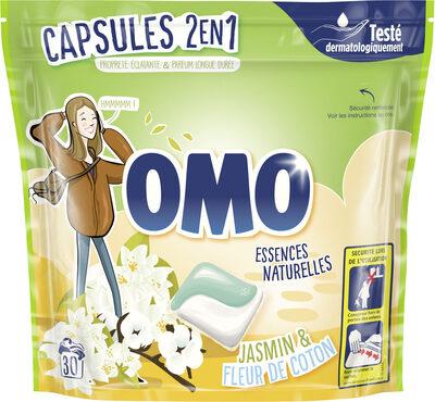 Omo Lessive Capsules 2en1 Jasmin & Fleur de Coton 30 Dosettes - Product - fr