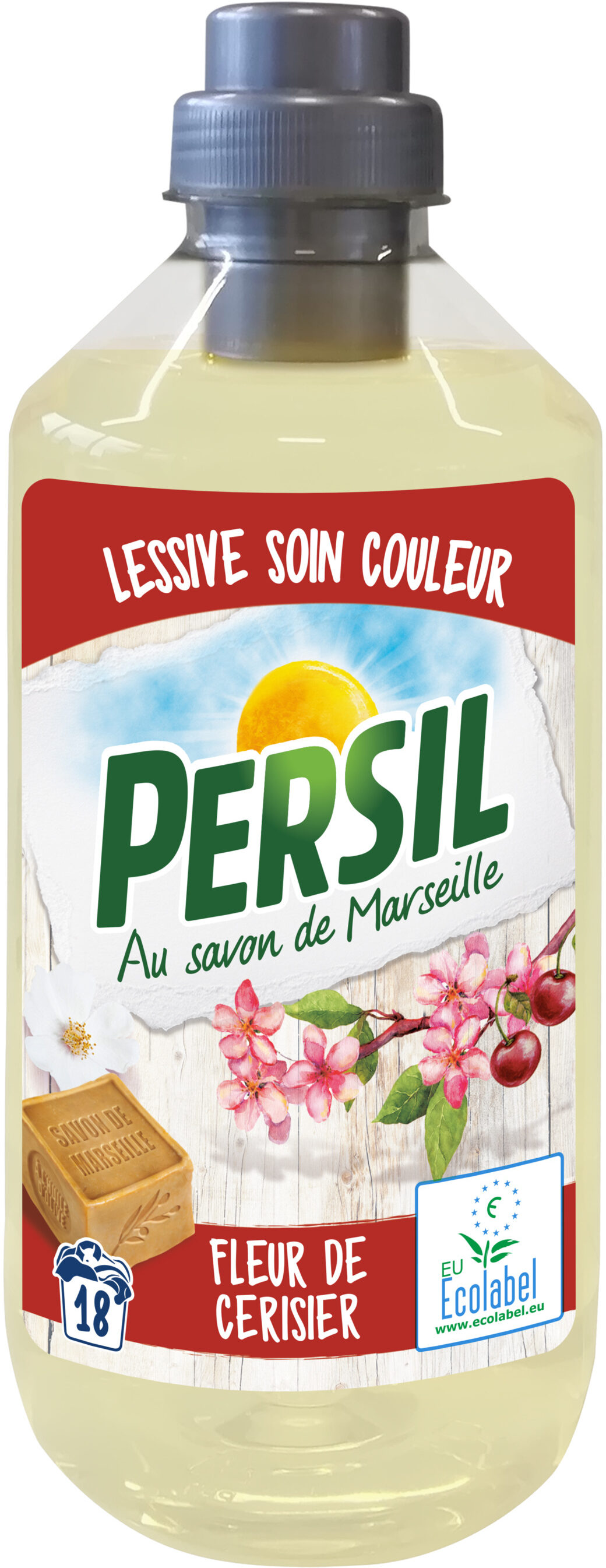 Persil Lessive Liquide Ecolabel Soin Couleurs Fleur de Cerisier 990ml 18 Lavages - Product - fr