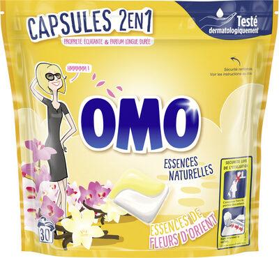 Omo Lessive Capsules 2 en 1 Essence de Fleurs d'Orient 30 Capsules - Product - fr