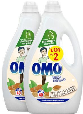 Omo Lessive Liquide Lait d'Amande Lot 2 x 2L - 80 lavages - Product - fr