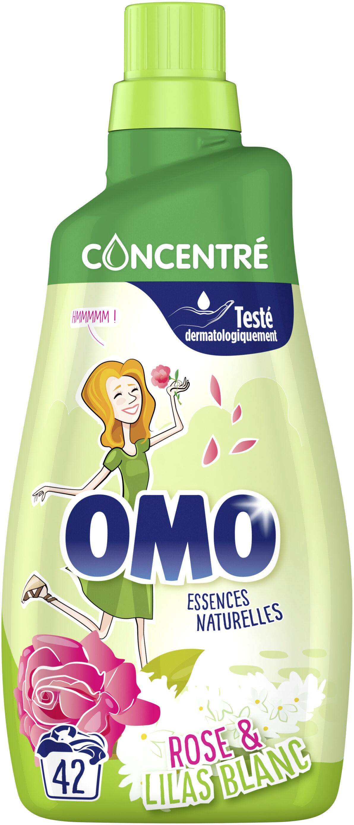 Omo Lessive Liquide Concentrée Rose & Lilas Blanc 42 Lavages - 1,47L - Product - fr