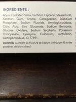 Zendium Dentifrice Protection Complète Mode d'action naturel antibactérien - Ingredients - fr