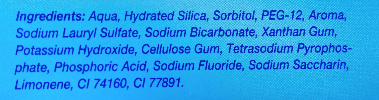 Colgate Advanced White Toothpaste - Ingredients - en