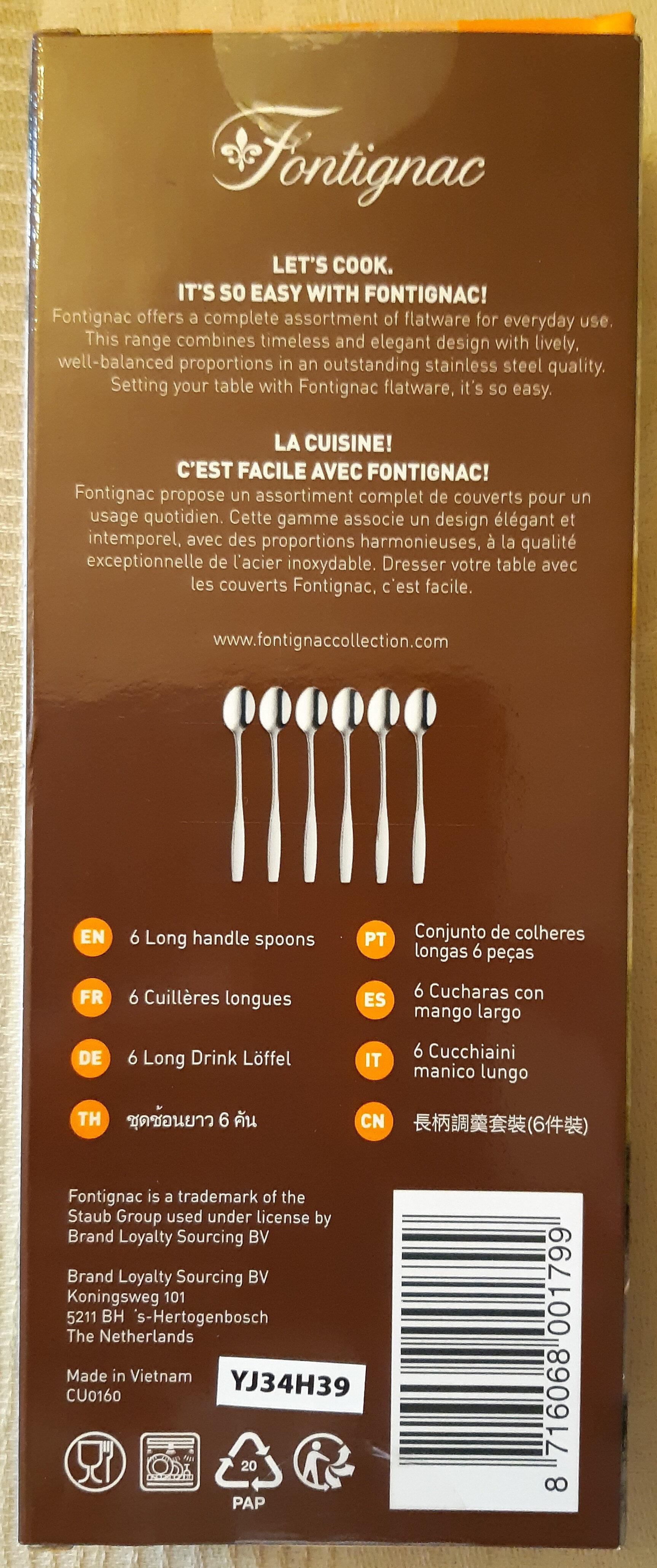 Petites cuillères longues - Ingredients - fr