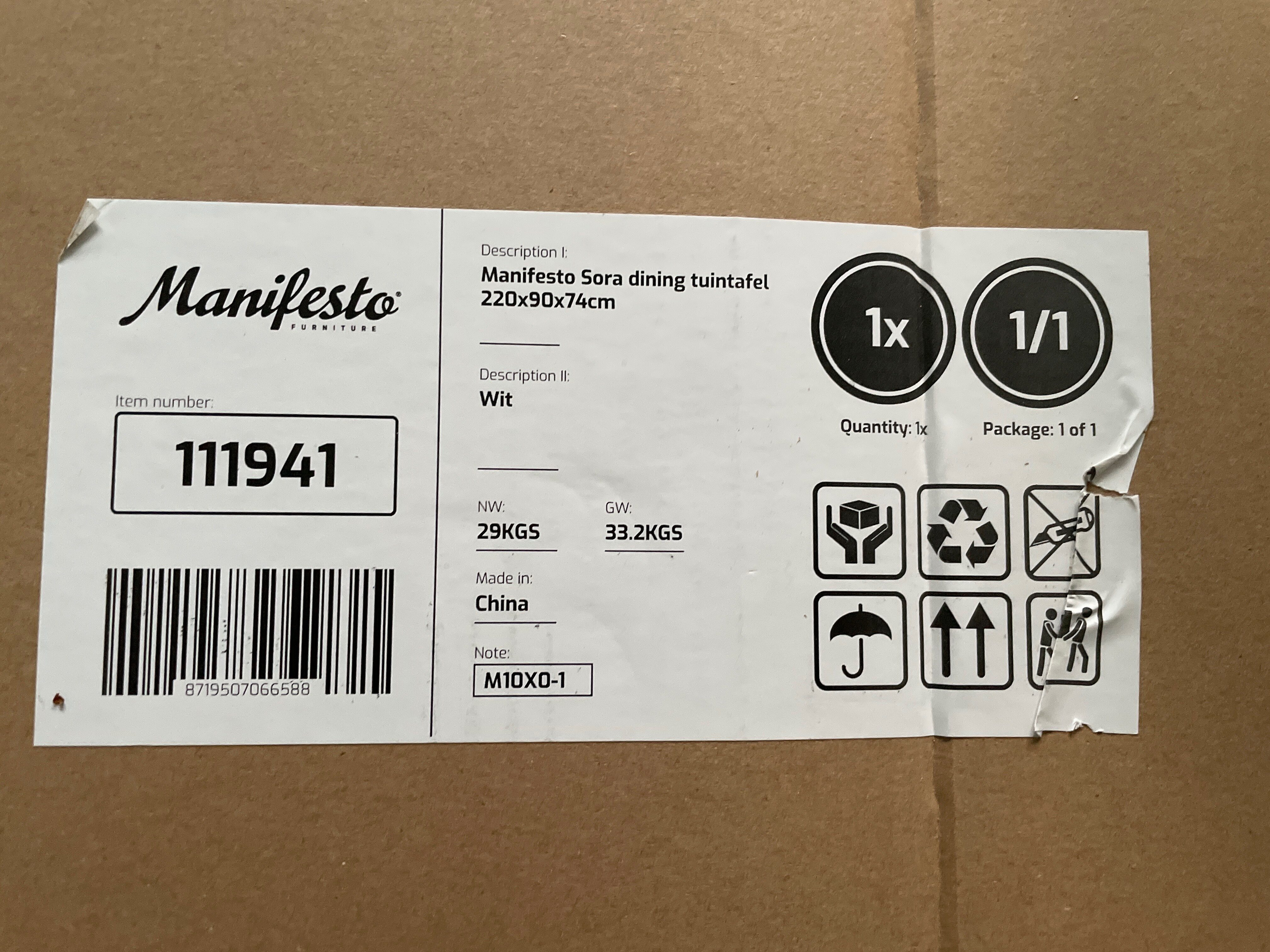 Manifesto Sora dining tuintafel - Product - de