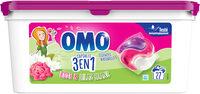 Omo Lessive Capsules 3en1 Rose & Lilas Blanc 27 dosettes - Produit - fr