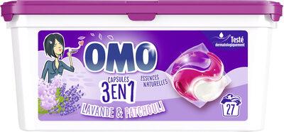 Omo Lessive Capsules 3en1 Lavande & Patchouli 27 dosettes - Product - fr
