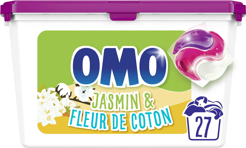 Omo Lessive Capsules 3en1 Jasmin & Fleur de Coton 27 dosettes - Product - fr