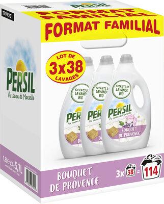 Persil Lessive Liquide Bouquet de Provence aux extraits de Lavande - Format Familial Lot 3x1.9L - 114 Lavages - Produit - fr