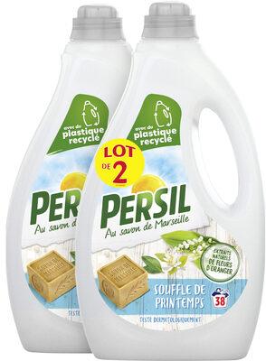 Persil Lessive Liquide Souffle de Printemps aux extraits naturels de Fleur d'Oranger Lot 2x1.9L - 76 Lavages - Produit - fr