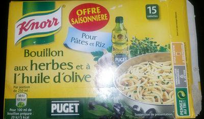 bouillon aux herbes et à l'huile d'olive - Product