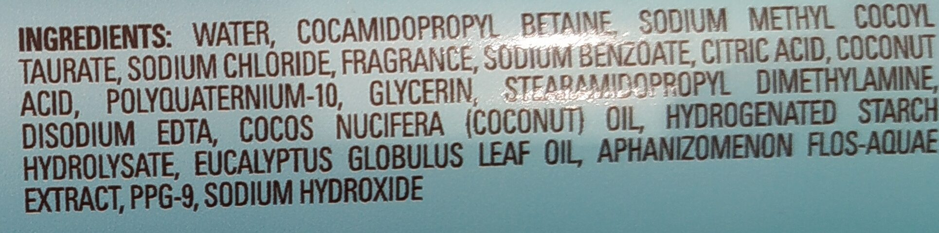 Blue-Green Algae & Eucalyptus Conditioner - Ingredients - en