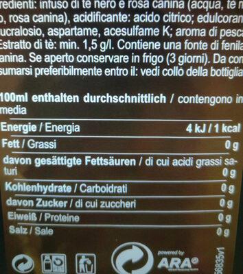 Eistee Pfirsich Zero - Ingredients