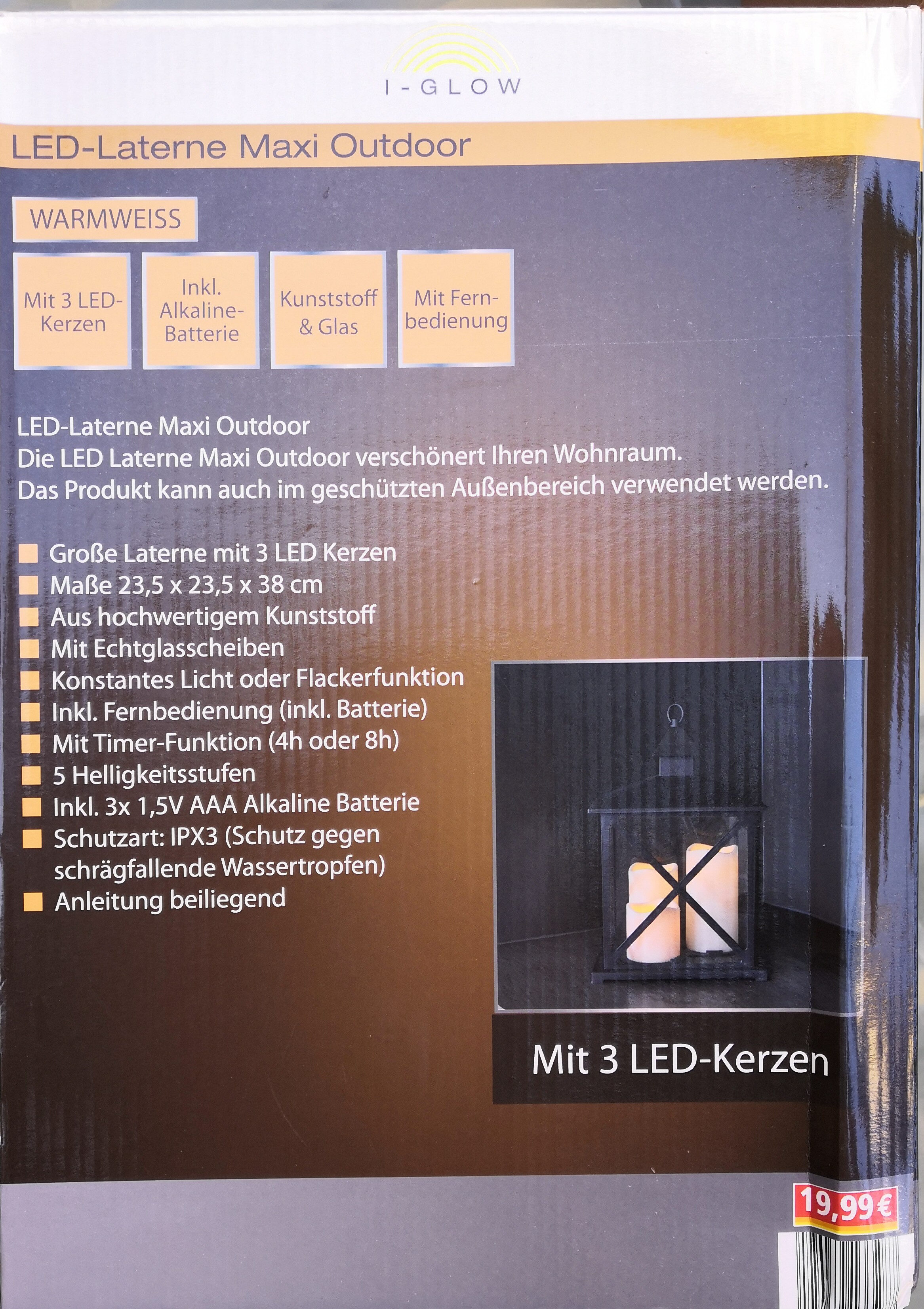 I-Glow LED-Laterne Maxi Outdoor - Ingredients - de