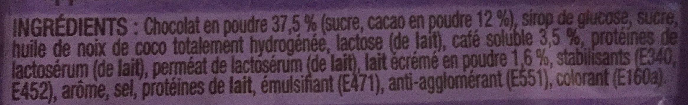 Cappuccino Milka - Ingredients - fr