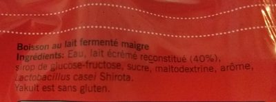 Yakult - Ingredients
