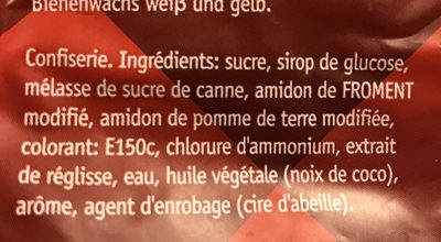 Reglisse douce - Ingredients