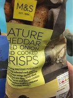Nature cheddar and red onion crisps - Produit