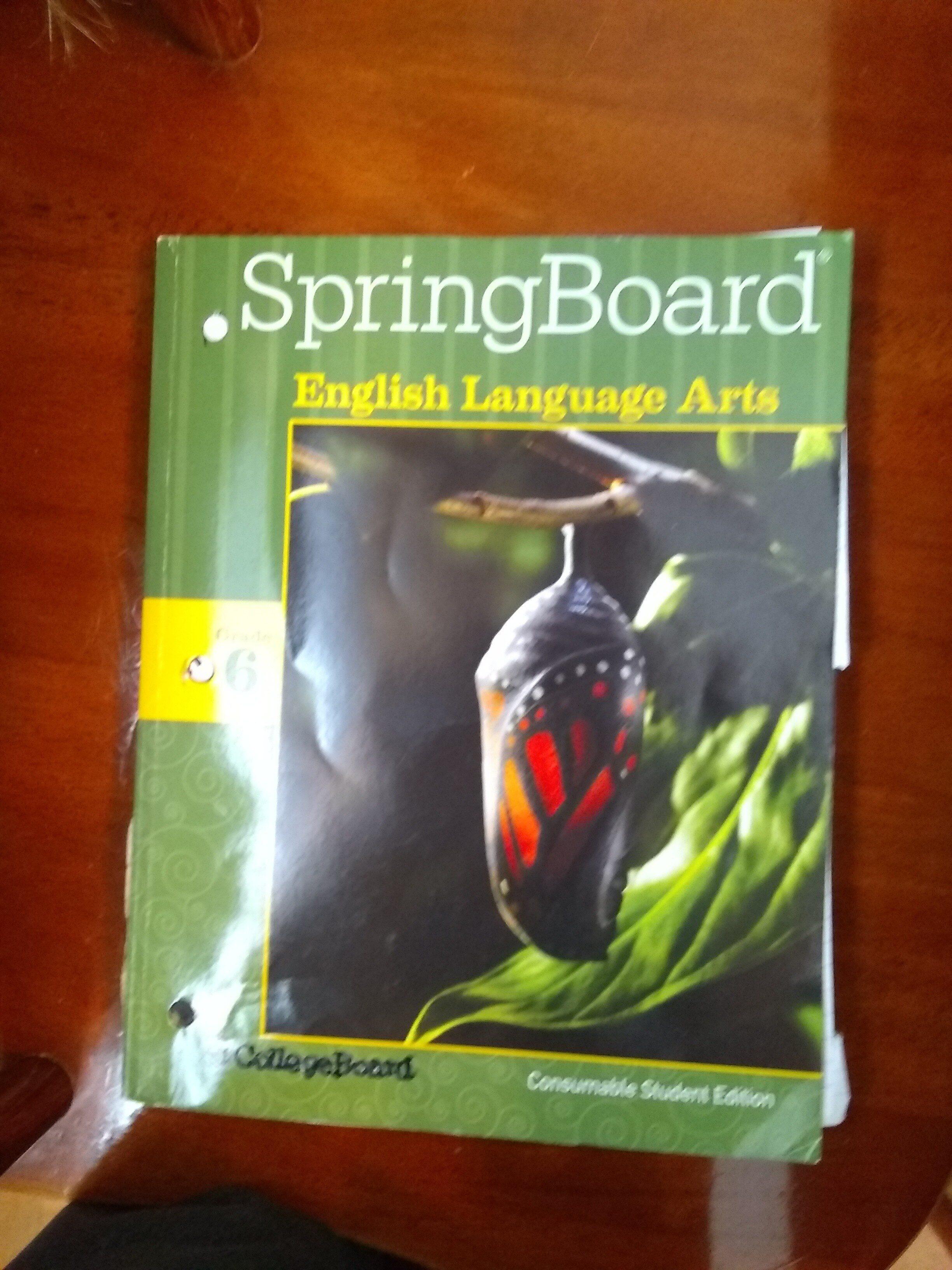 SpringBoard English Language Arts Grade 6 - Product - en