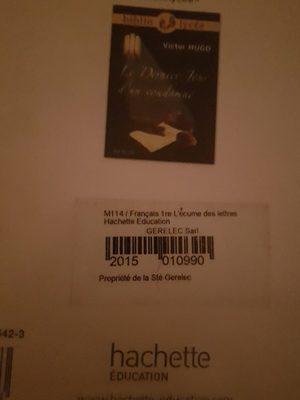 Livre français - Ingredients