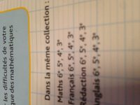 Reussir au college 6e Maths - Ingredients