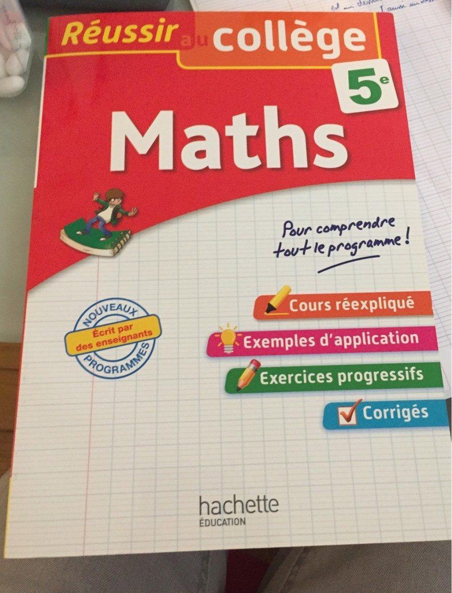 Reussir college maths 5eme - Product - fr