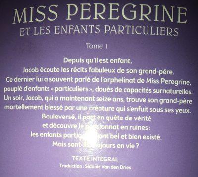 Miss Peregrine Et Les Enfants Particuliers - Ingredients