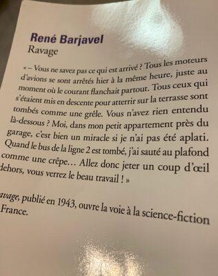Ravage, Barjavel - Ingredients