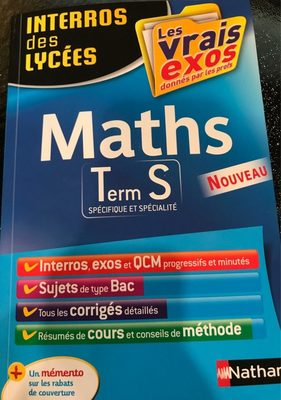 Maths ts - Product - fr