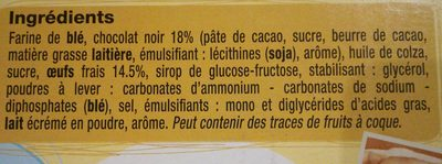 Madeleine chocoNoir - Ingredients