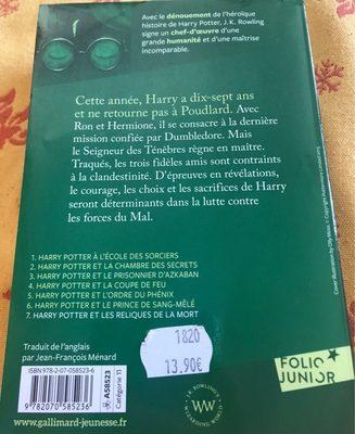 Harry Potter et les reliques de la mort - Ingrédients