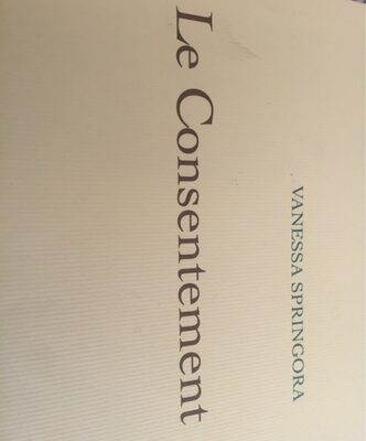 Le consentement (livre) - Product - fr
