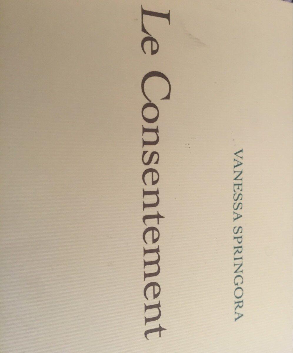 Le consentement (livre) - Produit - fr
