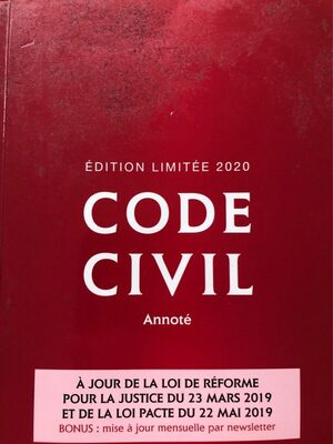 Code civil - Produit