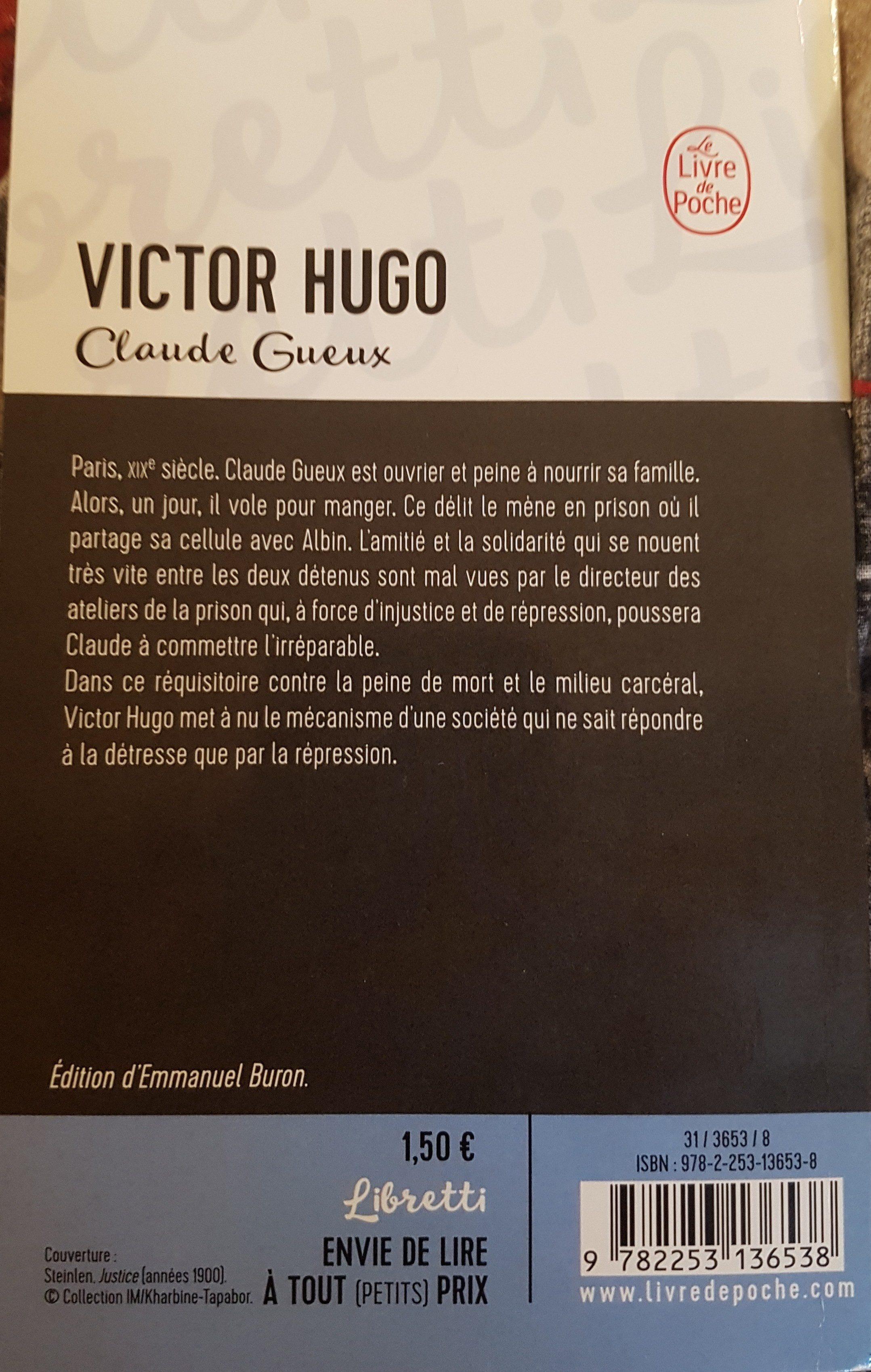 Victor Hugo de CLAUDE GUEUX - Ingredients
