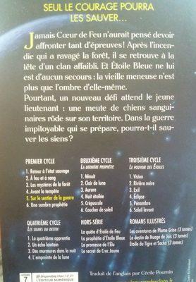 Guerre Clans T5 Sur Le Sentier, Erin Hunter - Ingredients