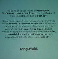 Game book - Ingrédients