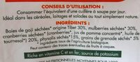 Mix de superfruits biologiques - Ingredients
