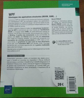 WPF Développez des applications structurées (MVVM, XAML...) - Ingredients
