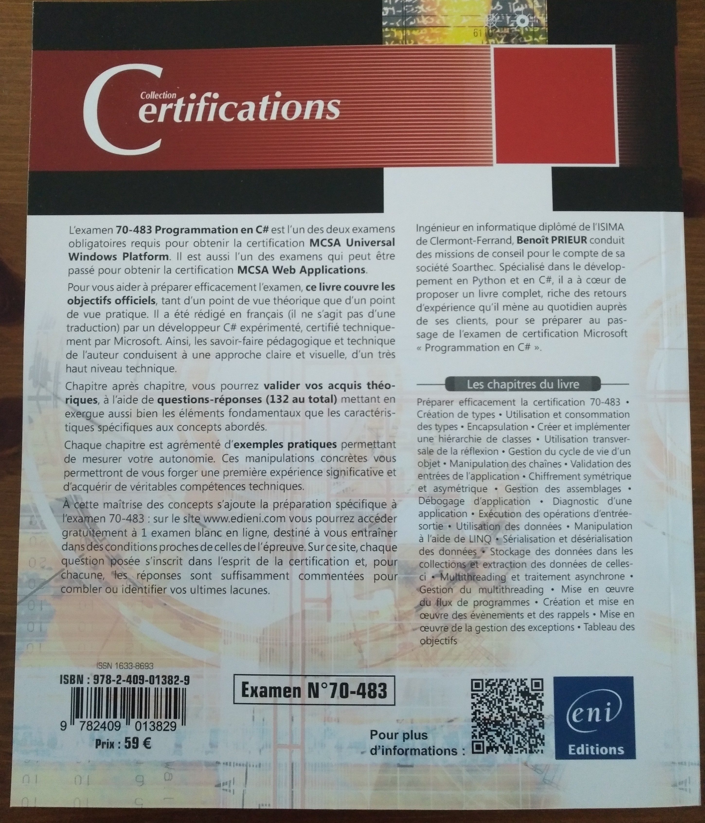 Programmation en C# Préparation aux certifications MCSA Examen N°70-483 - Ingrédients
