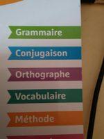 Mon cahier de français - Ingredients - fr
