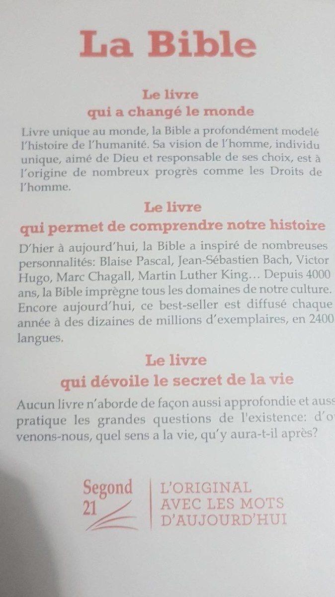 La Bible: Segond 21, L'original, - Ingredients - fr