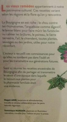 vieux remedes de Bourgogne - Ingredients