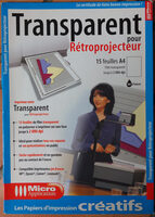Transparent pour Rétroprojecteur - Produit - fr